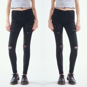 Pacsun Bullhead Super Skinny Distressed Jeans 0